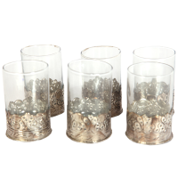 Oxidized 6 Piece Glass Set For Wedding Gift