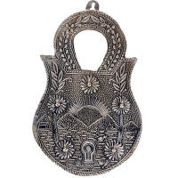 Oxidized lock shaped key holder
