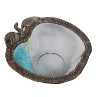 Oxidized Handcrafted Apple Shaped Bowl Online As India Gift