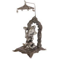 Oxidized Crafted Lord Ganesh With Singhasan Chatra Online