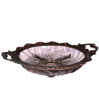 Oxidized Handicraft Glassed Dry Fruit Plate For Center Table