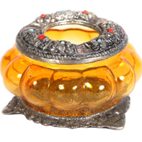Oxidized Handicraft Musk Melon Shaped Glass Bowl Online