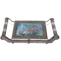 Oxidized Rajasthani Artwork Dry Fruit Gift Box Online