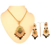 Pankhi shaped thewa pendant set