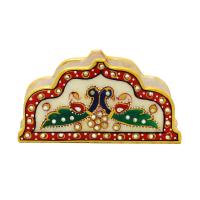Peacock design /marble tissue holder