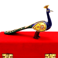 Peacock Showpiece With Simple Meena And Stone Work