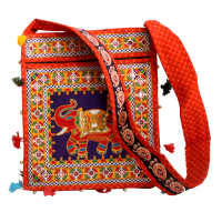Cotton hand bag with elephant design