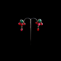 Ruby studded earrings