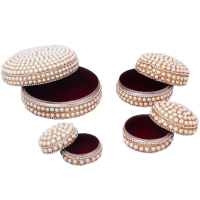 Pearl and Velvet Handcrafted Dibbi Set of 4 For Ladies
