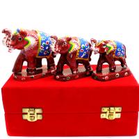 Set Of Three Elephant Made Of Plastic