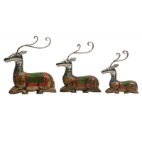 Sitting Deer Set Of 3