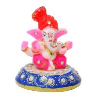 Spiritual turban ganesh idol on chowki