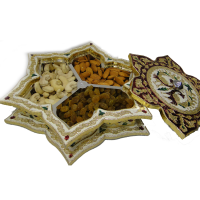 Wooden Meenakari Crafted Dry Fruit Gift Box With Lid Online