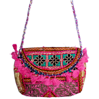 Sweet And Trendy Small Clutch Bag With Detaile Pakistani Embroidery Work