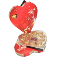 Sweetheart red chocolate box