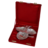 3 Leaf German Silver Utility Tray As Return Gifts India