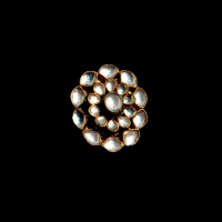White kundan studded ring