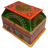 Wooden Embossed Two Drawer Box For Gifting