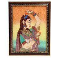 Wooden gemstone raagini painting frame
