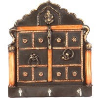 Rajasthani Wooden Jharokha Key Holder For Wall Online