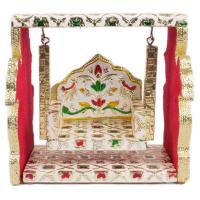 Wooden Meenakari Designed Swing from Rajasthan