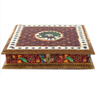 Wooden and Oxidised Brown Dryfruit box